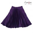 Юбка плиссе фиолетовая
