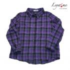 Рубашка в клетку фиолетовая